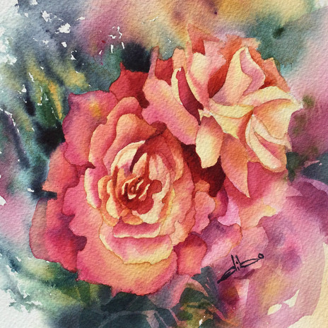 Petite rose, _ x 6 po $40