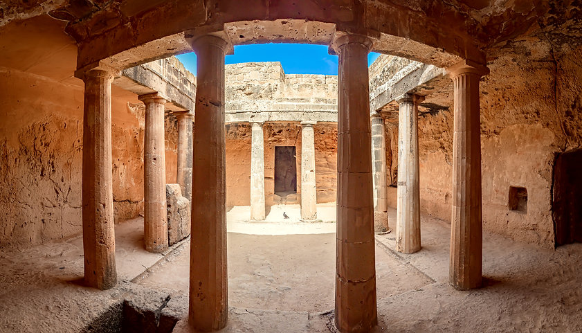 Cyprus. Pathos. Tombs of the Kings. Paph