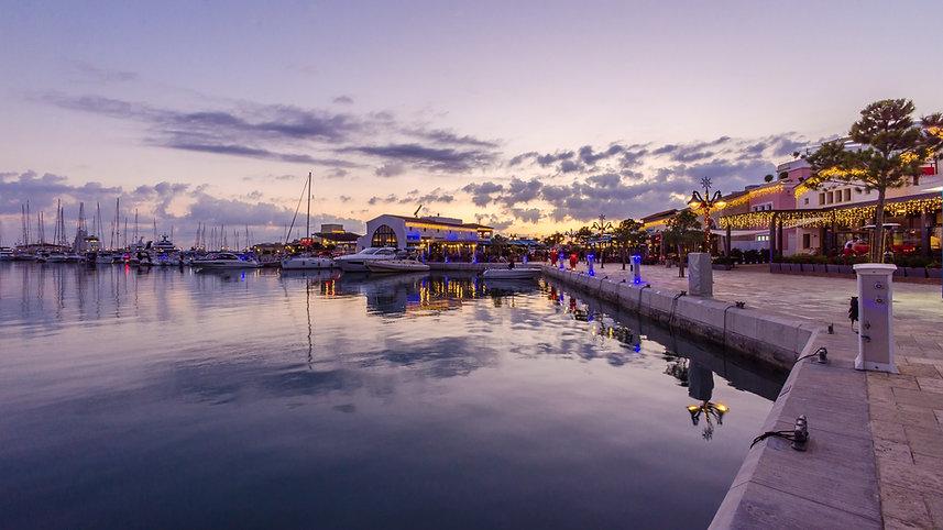 Beautiful Marina,Limassol city Cyprus at