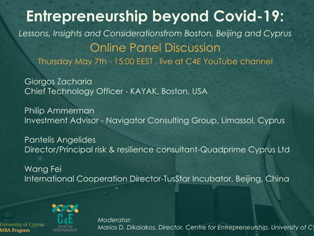 Entrepreneurship beyond COVID-19: Lessons and Insights from Boston, Beijing and Cyprus.