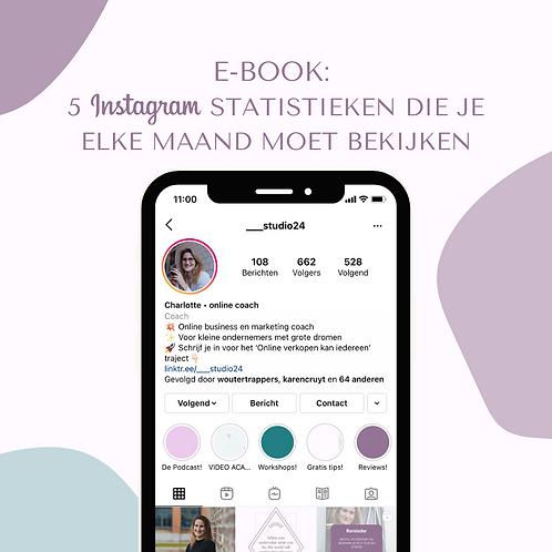 E-book: Instagram statistieken analyseren