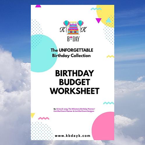 KBDAKY Birthday Budget Worksheet