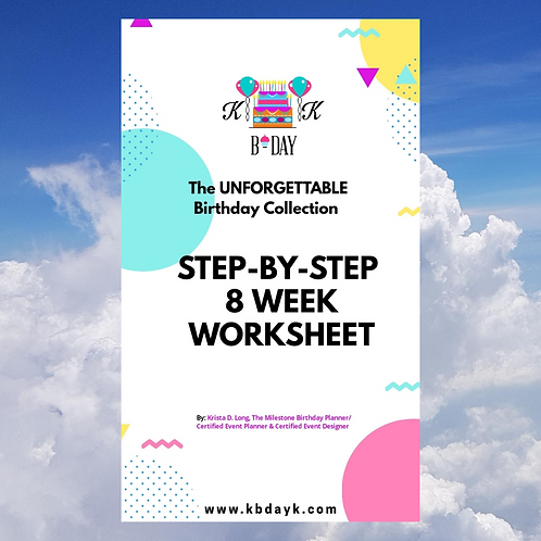 KBDAYK Step By Step 8 Week Event Planning Guide