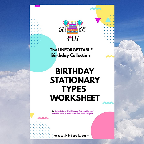 KBDAYK Birthday Stationary Types Worksheet