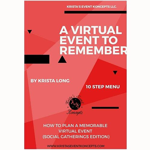 A Virtual Event To Remember (10 Step Menu)