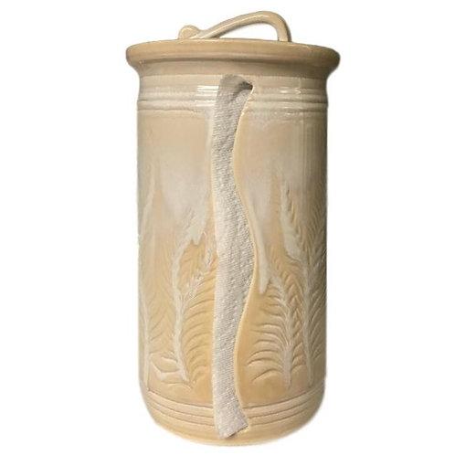 Sea Salt Caramel   Carved Leaves Design