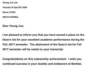 Dean's list_Nominee
