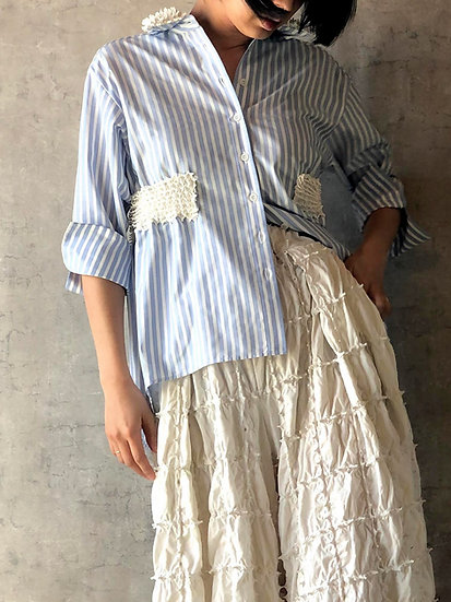 kumo belt blouse/blue