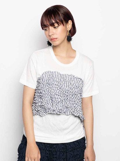 kumo stripe Bustier T-shirt