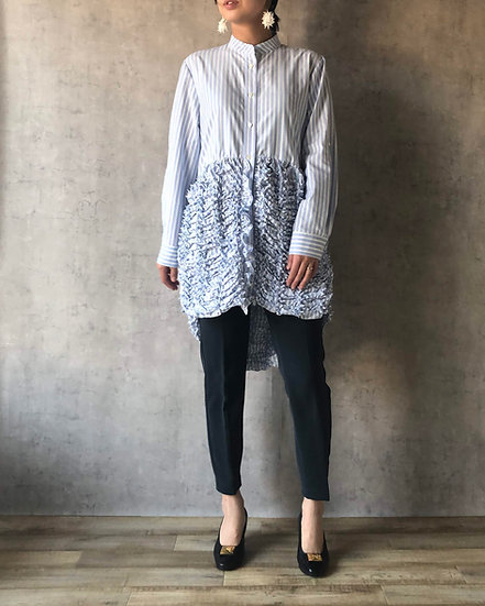 kumo stripe long blouse