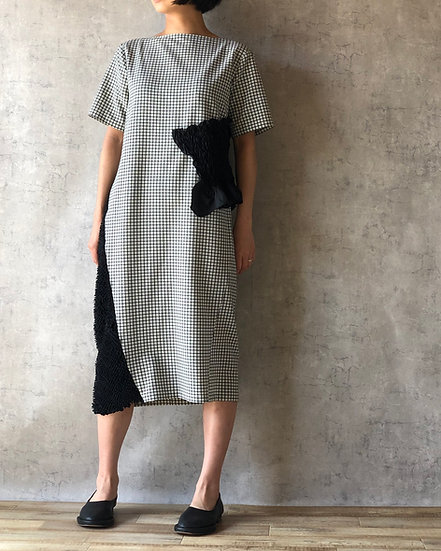 kumo mokume combi dress  /check