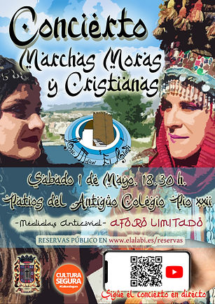 CARTEL CONCIERTO MARCHAS MORAS Y CRISTIA