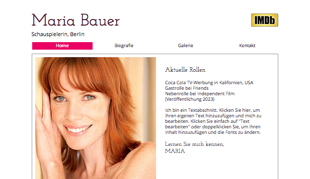 bewerbung lebenslauf website templates schauspieler lebenslauf - Lebenslauf Fur Bewerbung