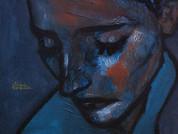 8- GRiS dE PEinE 41x33cm -  Acrylique et pastel sur toile
