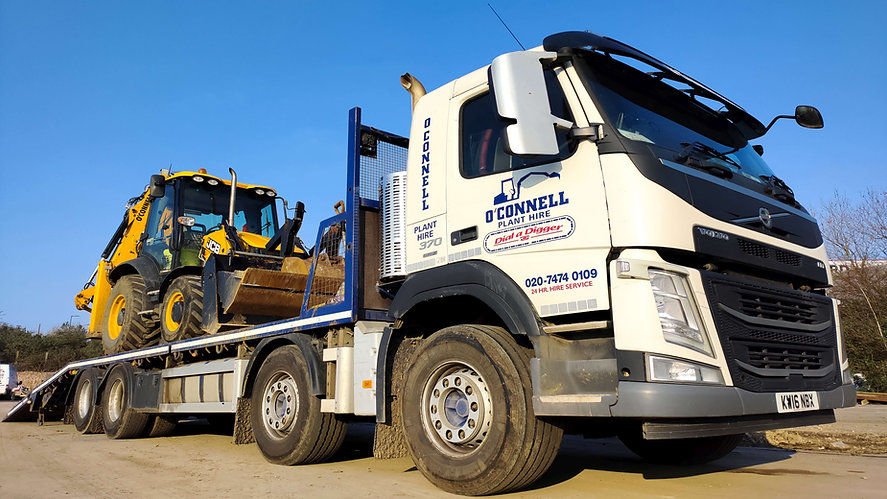 O'Connell Plant & Groundworks LTD Muck-away and grab Lorry in East London Silvertown