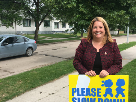 Winnipeg Committee for Safety launches Please Slow Down lawn sign campaign