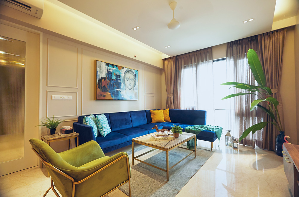 Home interior design for a 3 bhk residence in mumbai india
