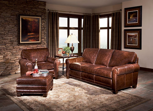 Smith Brothers Furniture | 393-E Living Room Leather Group