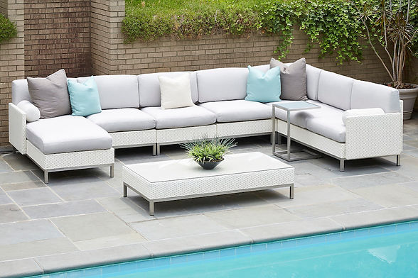 Lloyd Flanders Outdoor Furniture | Elements Collection Outdoor Sectional