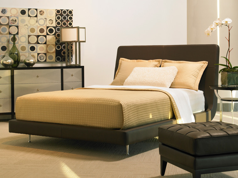 American Leather | Menlo Park Bed |Yellow