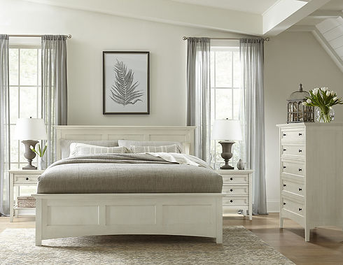 Stickley Furniture - Origins Collection - Bedroom - Revere Bed, Ember Finish, Tall Chest.j