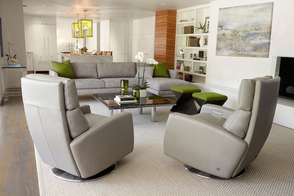American Leather | Elliot | Inspiration | Sectional | Gray