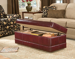 Smith Brothers Furniture | Living Room Ottoman 901-B Leather