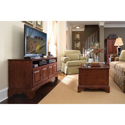 Kincaid Furniture | Brookside Collection | Entertainment Console Living Room Set