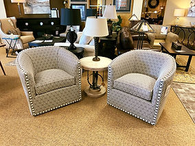 Norwalk Furniture | Swivel Chairs - Nail Trim
