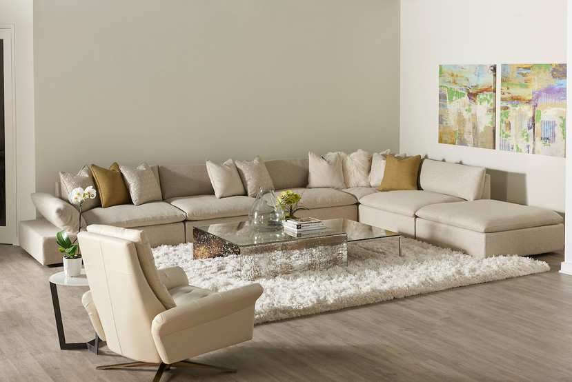 American Leather | Pileus | Antique Bronze Base | Versa | Sectional