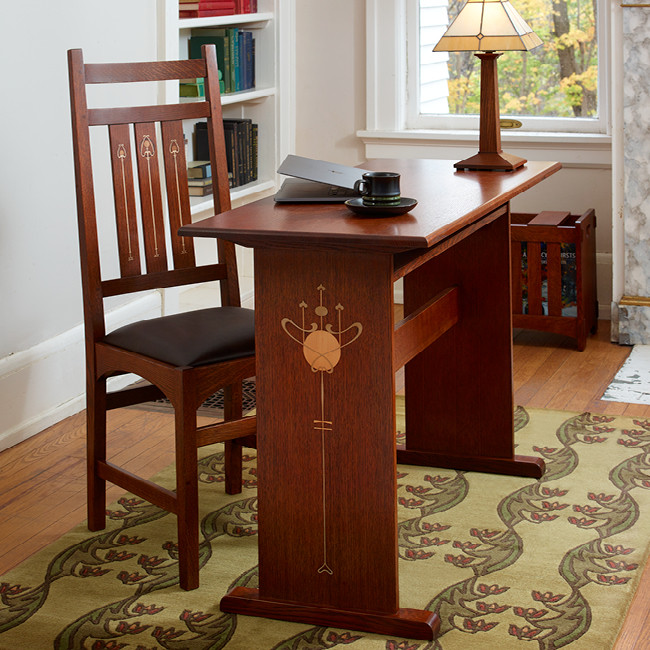 Harvey Ellis Desk - Featuring Inlay Detail