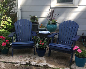 Sunnyside Poly Outdoor Furniture |  Adirondack Chairs - Patriot Blue