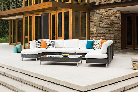 Lloyd Flanders Furniture | Elements Collection Outdoor Sectional Groupin
