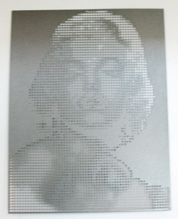 Metal Cutout of Marilyn Monroe
