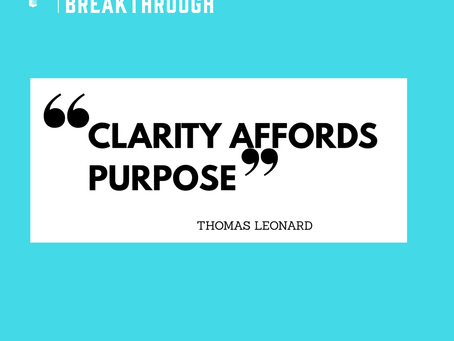 Clarity in order to Afford Purpose