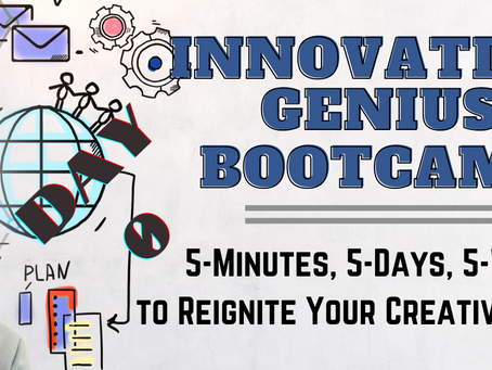 DAY 0: 5 Ways To Reignite Your Creative Genius At Work (And In Life!)