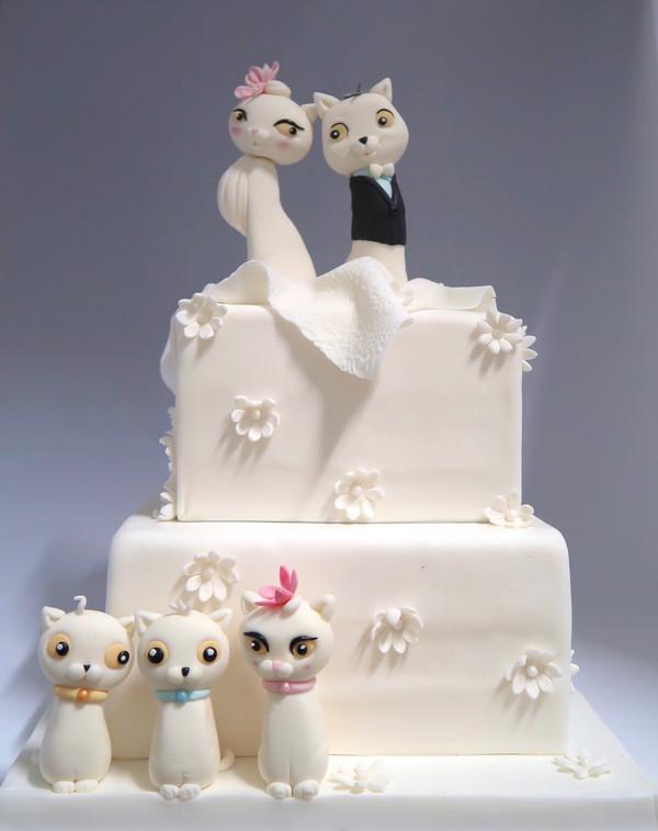 Katten bruidstaart