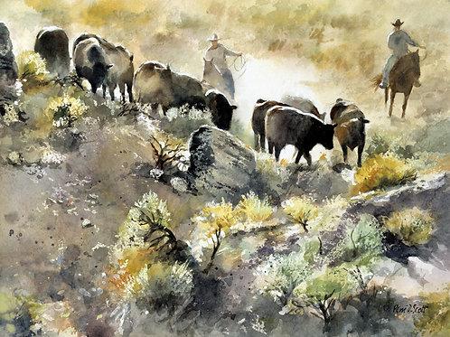"""Dusty Herd 8"""" x 10"""""""
