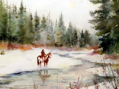 "Snow River Spirit    14"" x 11"""