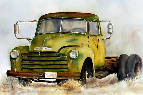 """Old Chevy '49    14"""" x 11"""""""