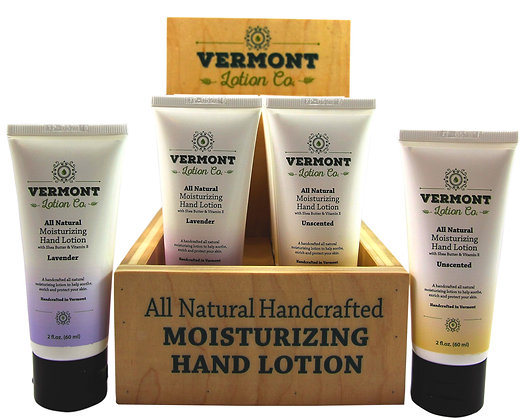 10 Unit Retailer Hand Lotion Display with 2oz Tubes