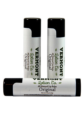 Original All Natural Lip Balm, 3 Pack