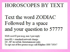 horoscope by text ireland