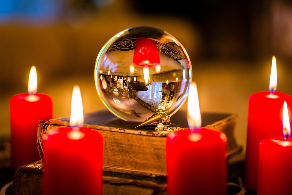 crystal ball candlelight