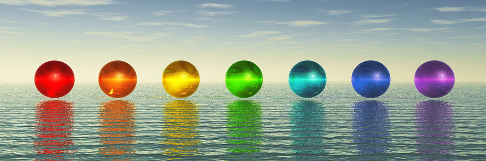 crystal ball meditation using chakra colours