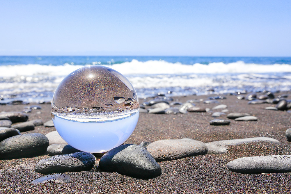 crystal ball salt water beach