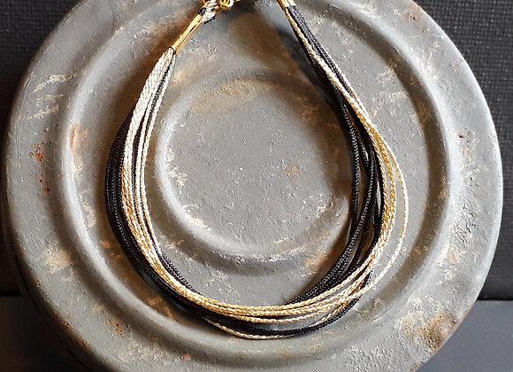 Bracelet Multiliens Noir