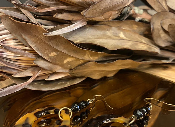 Boucles d'oreilles Agate Léopard