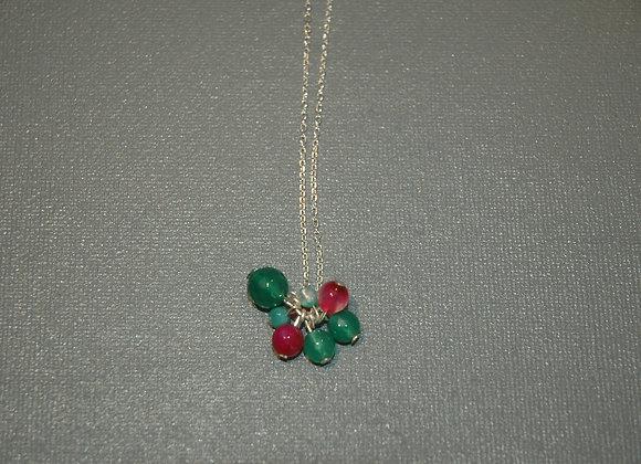 Collier Groseilles framboise Verte