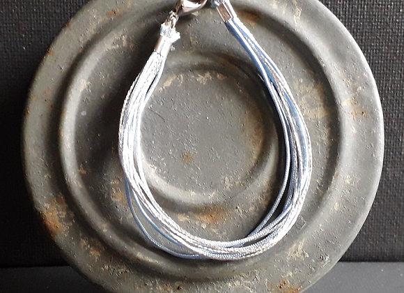 Bracelet Multiliens Gris Argenté